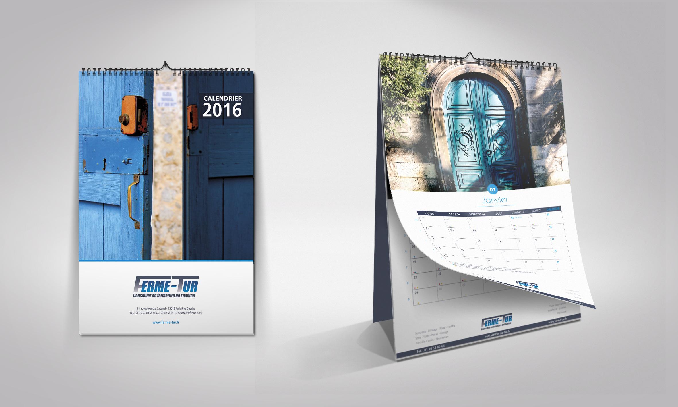 Le calendrier 2016 de Ferme-Tur est arrivé